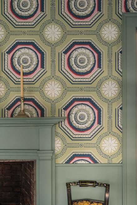 coffered rosette